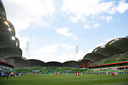 MELBOURNE, VIC - MARCH 06: A general view inside of AAMI Park during The Cup of Nations womens soccer match between New Zealand and Korea Republic on March 06, 2019 at AAMI Park, VIC. (Photo by Speed Media/Icon Sportswire)