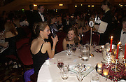 Zaza Wilson and Harriet Wright. White Knights Ball, Grosvenor House. Park Lane. London. 6  January 2006. ONE TIME USE ONLY - DO NOT ARCHIVE  © Copyright Photograph by Dafydd Jones 66 Stockwell Park Rd. London SW9 0DA Tel 020 7733 0108 www.dafjones.com