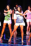 "November 22, 2009; Rancho Mirage, CA, USA; Miss San Dimas Teen USA Michelle Cirrito (center) during the Miss California Teen USA 2010 Pageant at ""The Show"" at the Agua Caliente Resort & Spa. Mandatory Credit: Kyle Terada-Terada Photo"