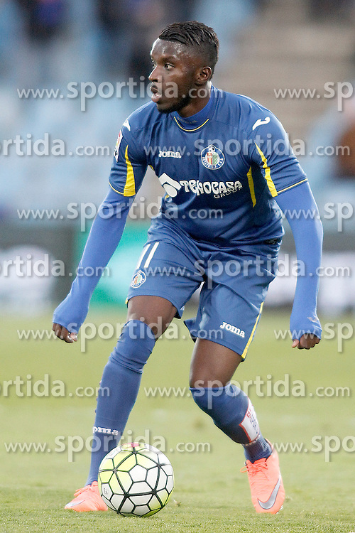 27.02.2016, Estadio Balaidos, Vigo, ESP, Primera Division, Getafe CF vs RC Celta, 26. Runde, im Bild Getafe's Karim Yoda // during the Spanish Primera Division 26th round match between Getafe CF and RC Celta at the Estadio Balaidos in Vigo, Spain on 2016/02/27. EXPA Pictures &copy; 2016, PhotoCredit: EXPA/ Alterphotos/ Acero<br /> <br /> *****ATTENTION - OUT of ESP, SUI*****