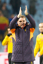 06.12.2012, Stadio Friuli, Udine, ITA, UEFA EL, Udinese Calcio vs FC Liverpool, Gruppe A, im Bild Liverpool's manager Brendan Rodgers applauds the supporters after the 1-0 victory over Udinese Calcio during during the UEFA Europa League group A match between Udinese Calcio and Liverpool FC at the Stadio Friuli, Udinese, Italy on 2012/12/06. EXPA Pictures © 2012, PhotoCredit: EXPA/ Propagandaphoto/ David Rawcliffe..***** ATTENTION - OUT OF ENG, GBR, UK *****
