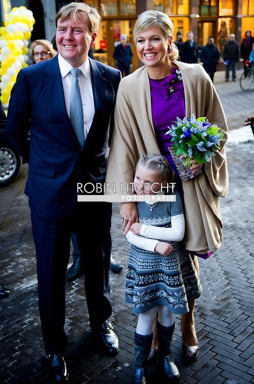 DEN HAAG - Prinses Maxima en prins Willem-Alexander bij de uitreiking van de Machiavelliprijs 2011.