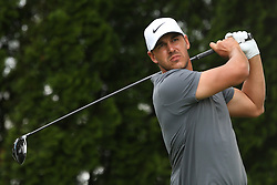 June 22, 2018 - Cromwell, Connecticut, United States - Brooks Koepka tees off the 9th hole during the second round of the Travelers Championship at TPC River Highlands. (Credit Image: © Debby Wong via ZUMA Wire)