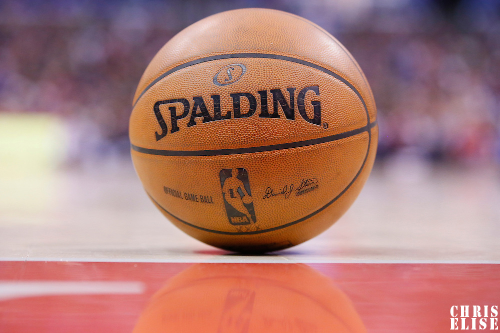 16 November 2013: Official game ball is seen during the Los Angeles Clippers 110-103 victory over the Brooklyn Nets at the Staples Center, Los Angeles, California, USA.