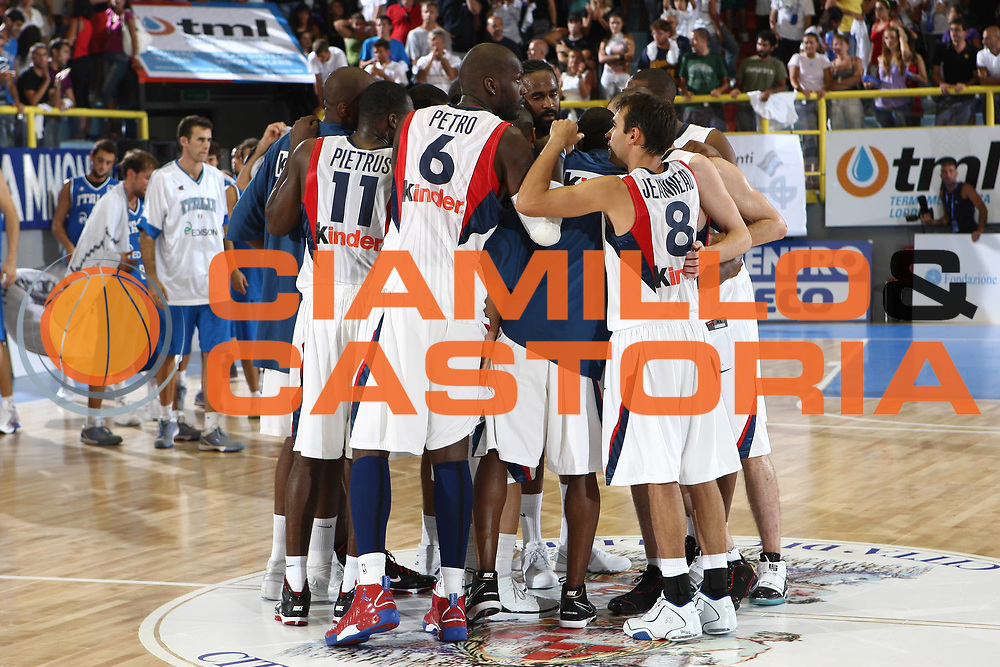 DESCRIZIONE : Cagliari Eurobasket Men 2009 Additional Qualifying Round Italia Francia<br /> GIOCATORE : team<br /> SQUADRA : Francia France<br /> EVENTO : Eurobasket Men 2009 Additional Qualifying Round <br /> GARA : Italia Francia Italy France<br /> DATA : 05/08/2009 <br /> CATEGORIA : team<br /> SPORT : Pallacanestro <br /> AUTORE : Agenzia Ciamillo-Castoria/C.De Massis