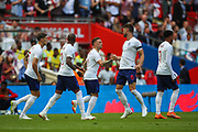 England celebrate the first goal of the match by England defender Gary Cahill (6) during the Friendly International match between England and Nigeria at Wembley Stadium, London, England on 2 June 2018. Picture by Toyin Oshodi.