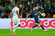 Paris Saint Germain's Spanish Yuri Berchiche controls the ball during the French championship L1 football match between Paris Saint-Germain (PSG) and Saint-Etienne (ASSE), on August 25, 2017 at the Parc des Princes in Paris, France - Photo Benjamin Cremel / ProSportsImages / DPPI