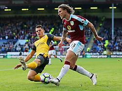 Jeff Hendrick of Burnley takes on Granit Xhaka of Arsenal - Mandatory by-line: Matt McNulty/JMP - 02/10/2016 - FOOTBALL - Turf Moor - Burnley, England - Burnley v Arsenal - Premier League