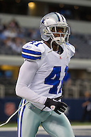 06 November 2011: cornerback (41) Terence Newman of the Dallas Cowboys warms up before the Cowboys 23-13 victory over the Seattle Seahawks at Cowboy Stadium in Arlington, TX.