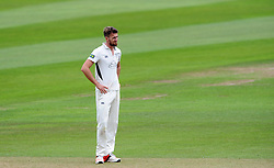 Dejection for Worcestershire's Jack Shantry - Photo mandatory by-line: Harry Trump/JMP - Mobile: 07966 386802 - 21/08/15 - SPORT - CRICKET - LV County Championship Division One - Day One - Somerset v Worcestershire - The County Ground, Taunton, England.