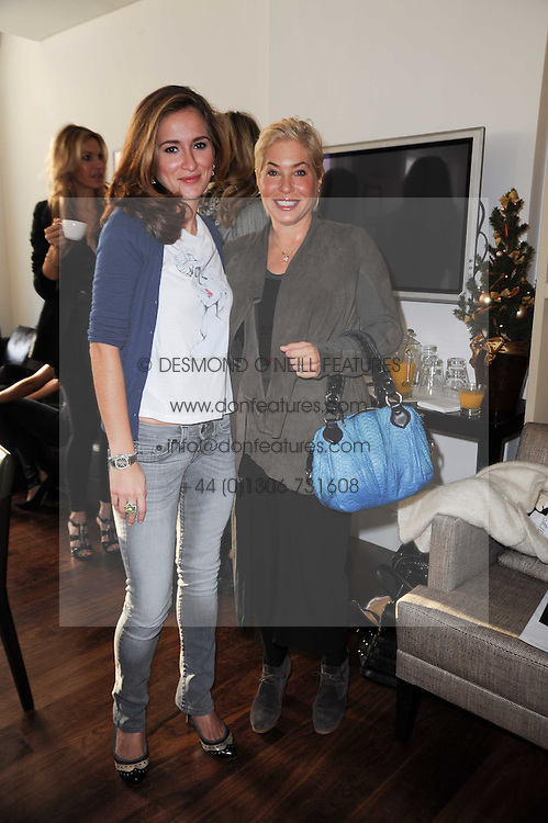 Left to right, TANAZ DIZADJI and BRIX SMITH START at a breakfast hosted by Bobbi Brown - the cosmetics company held at Morton's, 28 Berkeley Square, London on 8th December 2009.