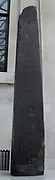 Black siltstone obelisk of King Nectanebo II of Egypt, 13th dynasty, about 350 BC.  Gift of His Majesty King George III, 1802.