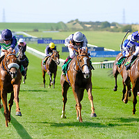 Torcello and Oisin Murphy winning the fifth race at Newmarket