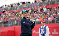 Europe's Martina Navratilova during a celebrity golf match ahead of the 41st Ryder Cup at Hazeltine National Golf Club in Chaska, Minnesota, USA.