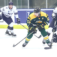 3rd year forward, Tristan Frei (13) of the Regina Cougars during the Men's Hockey Home Game on Sat Dec 01 at Co-operators Center. Credit: Arthur Ward/Arthur Images