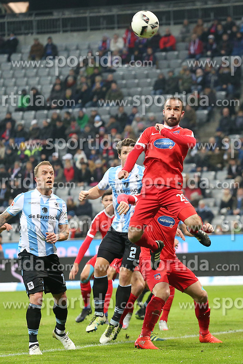 16.12.2016, Allianz Arena, M&uuml;nchen, GER, 2. FBL, TSV 1860 Muenchen vs 1. FC Heidenheim, 17. Runde, im Bild Robert Strauss (1.FC Heidenheim #29#) // during the 2nd German Bundesliga 17th round match between TSV 1860 Muenchen vs 1. FC Heidenheim at the Allianz Arena in M&uuml;nchen, Germany on 2016/12/16. EXPA Pictures &copy; 2016, PhotoCredit: EXPA/ Eibner-Pressefoto/ Langer<br /> <br /> *****ATTENTION - OUT of GER*****