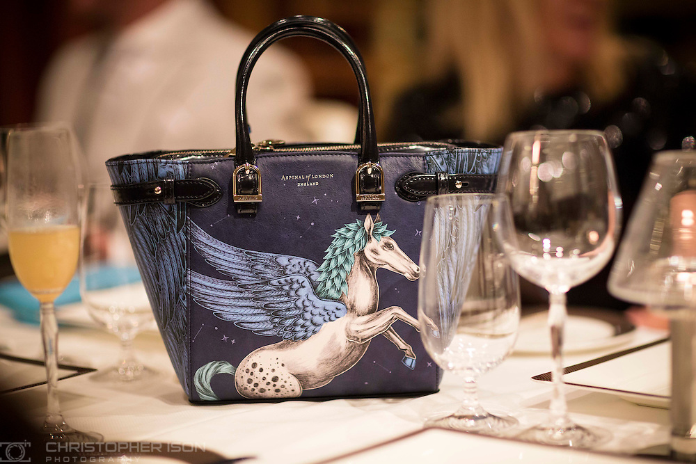 An Aspinal of London Pegasus bag on board Queen Mary 2 during Cunard's first Transatlantic Fashion Week. The voyage set sail from Southampton on the 1st September and will arrive in to New York City for the start of New York Fashion Week on the 8th.<br /> Picture date: Sunday September 4, 2016.<br /> Photograph by Christopher Ison &copy;<br /> 07544044177<br /> chris@christopherison.com<br /> www.christopherison.com