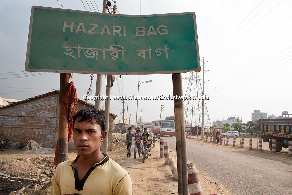 Slaves of Hazaribagh<br /> <br /> Hazaribagh is an area of Dhaka city, the capital of Bangladesh, and is known for its tannery industry and large leather processing zone. Up to 95% of the registered tanneries in Bangladesh are located in and around Hazaribagh. Currently, more than 2000 tanneries operate here, employing between 8.000 and 15.000 people. <br /> In 2013, the Zurich-based Green Cross Switzerland and the New York-based Blacksmith Institute published a report on the most polluted places in the world. The report &ldquo;The Top Ten Toxic Threats, Clean Up, Progress and Ongoing Challenges&rdquo;, puts Hazaribagh at number five. Most of the 185.000 people living in this area work in the factories and tanneries. They are forced to live in highly polluted environments.  A lot of children and teenagers also work in the factories.<br /> <br /> Photo Shows: Hazaribagh literally means &ldquo;a thousand gardens&rdquo;. But there are no flowers here. The slum is the most polluted place in Dhaka, itself one of the most polluted cities in the world.<br /> &copy;Pascal Mannaerts/Exclusivepix Media
