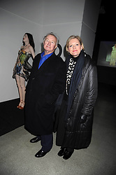 SIR TERENCE & LADY CONRAN at a retrospective exhibition of Hussein Chalayan's designs sponsored by Puma at The Design Museum, London SE1 on 21st January 2009.