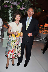 MR ROBERT & HON.WALEY COHEN at a dinner hosted by Cartier following the following the opening of the Chelsea Flower Show 2012 held at Battersea Power Station, London on 21st May 2012.
