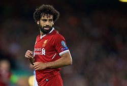 LIVERPOOL, ENGLAND - Wednesday, August 23, 2017: Liverpool's Mohamed Salah during the UEFA Champions League Play-Off 2nd Leg match between Liverpool and TSG 1899 Hoffenheim at Anfield. (Pic by David Rawcliffe/Propaganda)