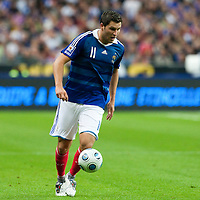 05 September 2009: French forward Andre-Pierre Gignac controls the ball during the World Cup 2010 qualifying football match France vs. Romania (1-1), on September 5, 2009 at the Stade de France stadium in Saint-Denis, near Paris, France.