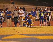 Oxford High's Stan Ivy (6) makes a catch vs. Hernando in Oxford, Miss. on Friday, October 14, 2011. Hernando won 31-30 in overtime.