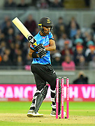 Delray Rawlins of Sussex in action during the final of the Vitality T20 Finals Day 2018 match between Worcestershire Rapids and Sussex Sharks at Edgbaston, Birmingham, United Kingdom on 15 September 2018.