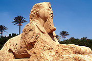 EGYPT, ANCIENT MONUMENTS Memphis; the Alabaster Sphinx from the New Kingdom
