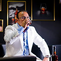 Ron Zacapa brand ambassador Mario Navarro at the Hong Kong Restaurant and Bar Show 2011. Photo © Mike Pickles / studioEAST