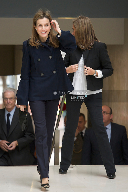 "Princess Letizia of Spain attends the Presidency of the 3rd edition of the Forum Against Cancer ""For a comprehensive approach"" at Garrigues Walker Offices on February 4, 2014 in Madrid"