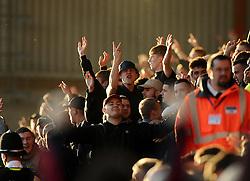 Preston fans  - Photo mandatory by-line: Joe Meredith/JMP - Mobile: 07966 386802 - 22/11/2014 - Sport - Football - Bristol - Ashton Gate - Bristol City v Preston North End - Sky Bet League One