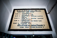 Rules and regulations at Klong Prem prison in Bangkok, Thailand.