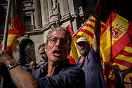 Thousands gathered for a rally pro Spain unity in Barcellona. October 8th, 2017. Barcellona, Spain