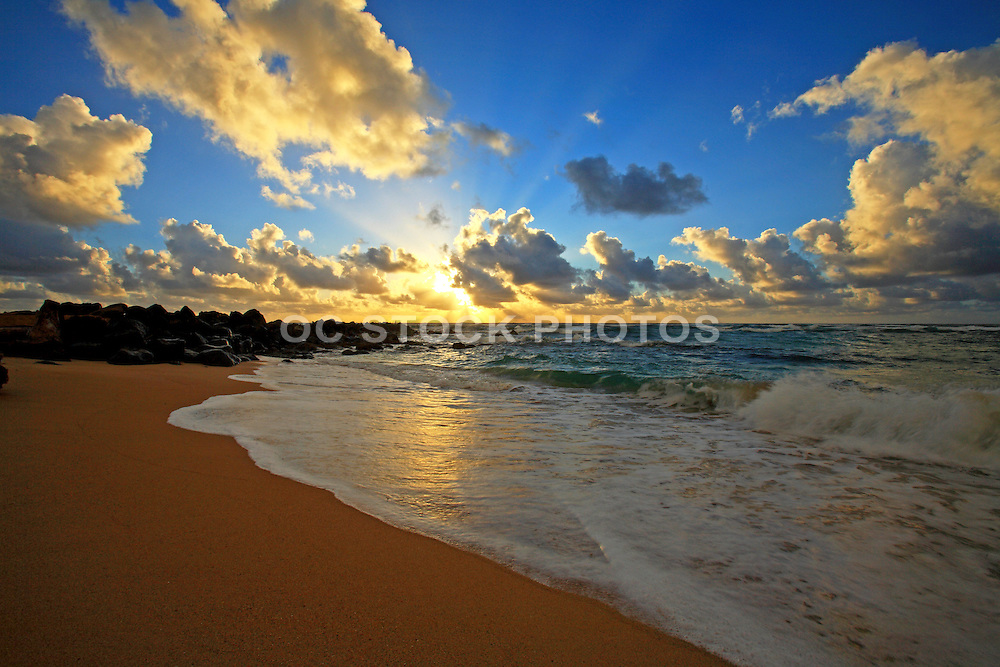 Sunrise On A Beach In Kauai