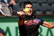 Roland Garros 2011. Paris, France. May 25th 2011..Serbian player Novak DJOKOVIC against Victor HANESCU