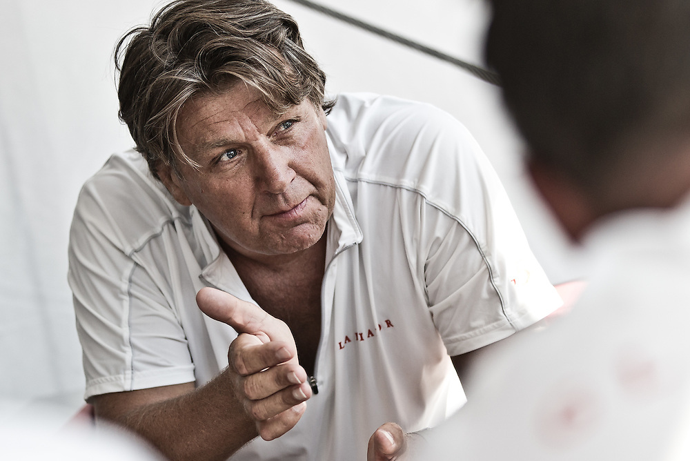 FRANCE, Marseille. 15th June 2011. AUDI MedCup Marseille Trophy. Tony Langley, owner and helmsman, TP52, Gladiator.