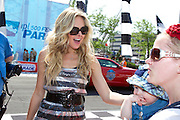 Country artist Laura Bell Bundy seen in the IPL 500 Festival Parade in Indianapolis, Indiana.