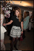 PRINCESS BEATRICE, Alice in her Palace party, Alice Naylor-Leyland launch of her  blog, Alice in her Palace, Drawing Room at Fortnum & Mason. 27 March 2014