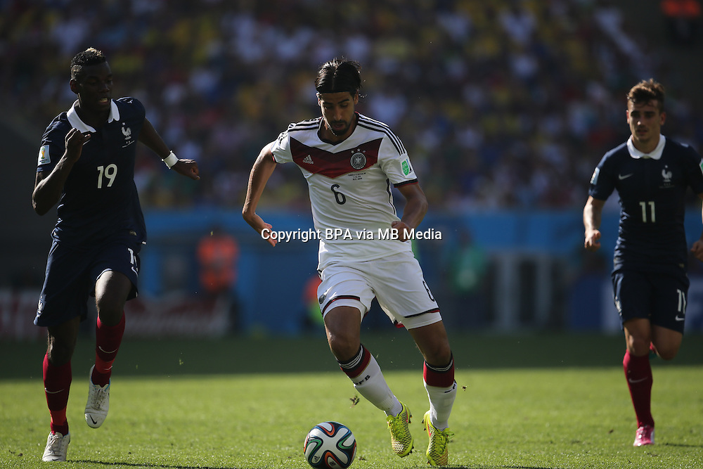 Sami Khedira.  France v Germany, quarter-final. FIFA World Cup Brazil 2014. 4 July 2014