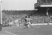 Cork and Kilkenny challenge each other and fall to the ground during at the All Ireland Senior Hurling Final, Cork v Kilkenny in Croke Park on the 3rd September 1972. Kilkenny 3-24, Cork 5-11.