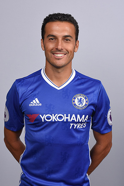 COBHAM, ENGLAND - AUGUST 11: Pedro of Chelsea during the Official Portrait session at Chelsea Training Ground on August 11, 2016 in Cobham, England. (Photo by Darren Walsh/Chelsea FC via Getty Images)