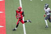 Community College of San Francisco wide receiver Easop Winston Jr. (11) catches a pass for a touchdown against College of Siskiyous at Community College of San Francisco in San Francisco, Calif., on September 10, 2016. (Stan Olszewski/Special to S.F. Examiner)