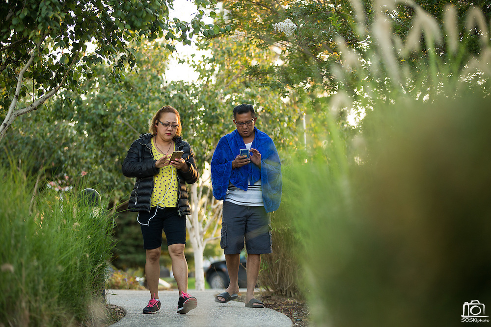 "Gamers play ""Pokemon Go"" near Milpitas City Hall in Milpitas, California, on August 1, 2016. (Stan Olszewski/SOSKIphoto)"