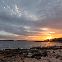 Sunset on Ship Harbor, Acadia National Park, Maine