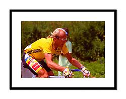 Laurent Fignon,<br /> Tour de France 1989<br /> <br /> Stage 19 from Villard-de-Lans to Aix-les-Bains. Two days later he would lose the Tour to Greg LeMond in the final time trial on the Champs-Élysées.