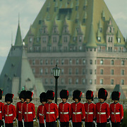 The Changing of the Guard at The Citadel, Quebec, Canada.