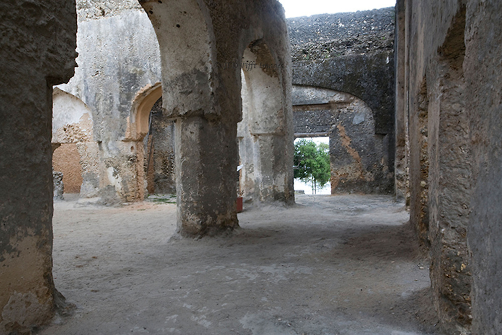 Ruins of Mtoni Palace, built by Sultan Seyyid Said in 1828 to get  his Persian wife to move to Zanzibar.  It is the oldest palace on Zanzibar, in a beautiful location by the Indian Ocean.