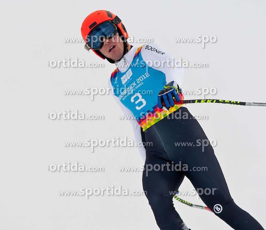 "14.01.2012, Patscherkofel, Innsbruck, AUT, Olympische Jugend Winterspiele, Ski Alpin, Super G, Herren, im Bild Lucas Krahnert (GER) // Lucas Krahnert (GER) during the Mens Super G of the Winter Youth Olympic Games at the ""Patscherkofel"", Innsbruck, Austria on 2012/01/14, EXPA Pictures © 2012, PhotoCredit: EXPA/ Juergen Feichter"