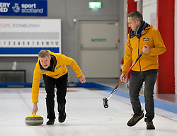 Edinburgh, Scotland, UK. 29th November 2019. Scottish Liberal Democrat Leader Willie Rennie was joined by Liberal Democrat MP candidates to launch the party's General Election manifesto at the Edinburgh Curling Rink. Pictured; Willie Rennie and Alex Cole-Hamilton (R) Iain Masterton/Alamy Live News.